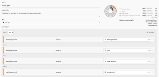 organic search segment Adobe Analytics
