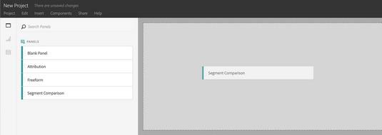 Adobe Analytics Segment Comparison panel