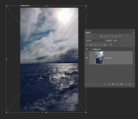 artboard image Photoshop CC