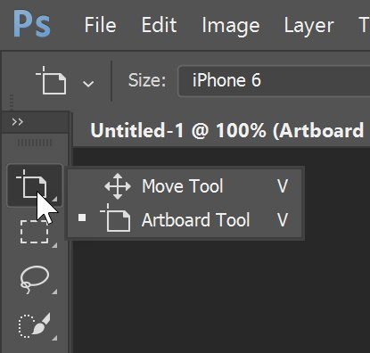 add artboards Photoshop CC