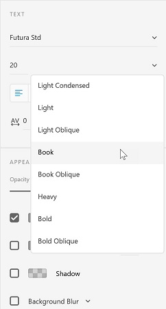 How to Adjust Text Properties in Adobe XD - dummies