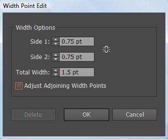 customize width illustrator