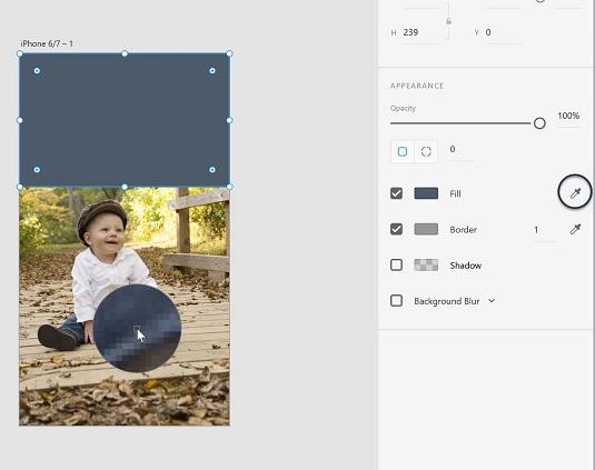 eyedropper Adobe XD