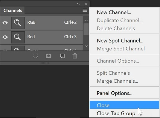 Photoshop CC panels