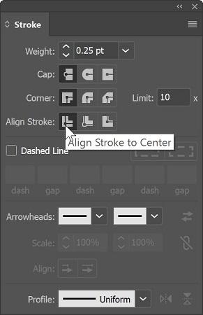 stroke panel Illustrator