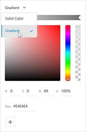 Color picker Adobe XD