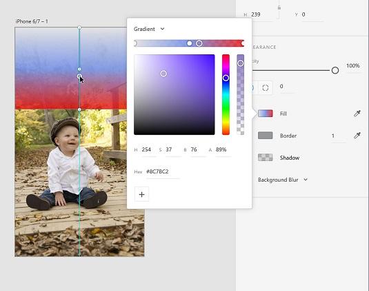 color stops Adobe XD