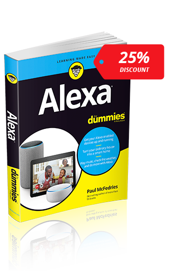 Save 25% on Alexa For Dummies