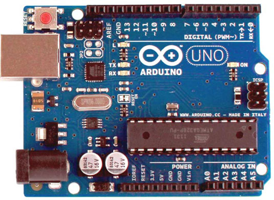 front of Arduino Uno