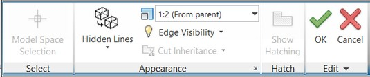 Drawing View Editor context tab AutoCAD