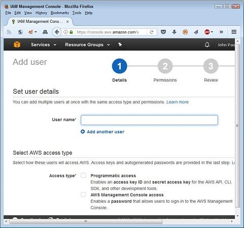 Access key username