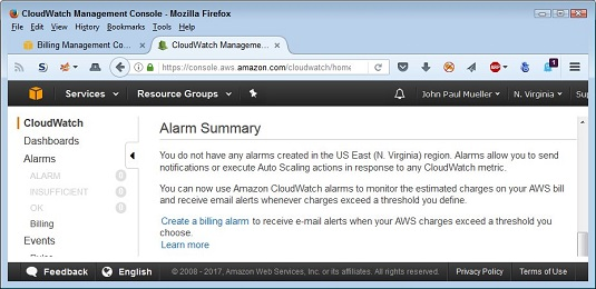 How to Set Billing Alerts for AWS Services - dummies