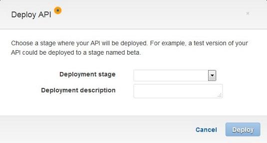 deploy API AWS
