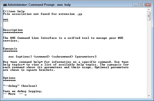 help command AWS