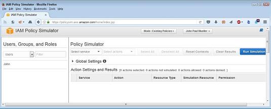 IAM policy simulator
