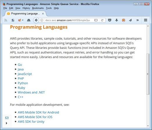 AWS language support