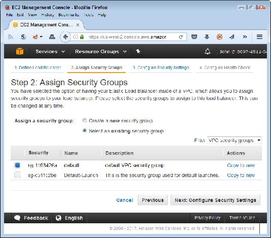 load balancer security AWS