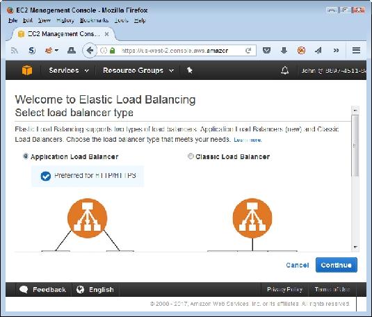 load balancer type AWS