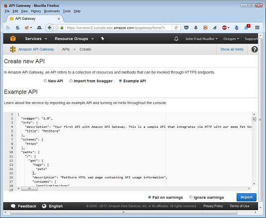 new API AWS