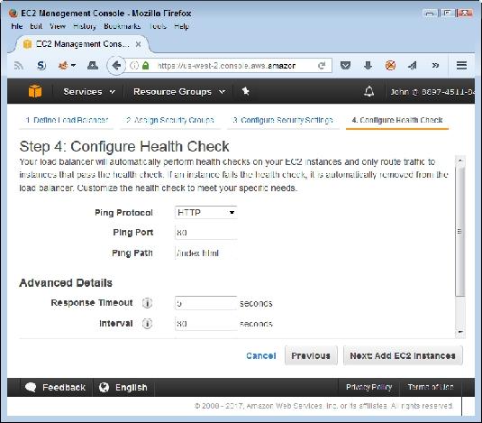verify EC2 instance health AWS