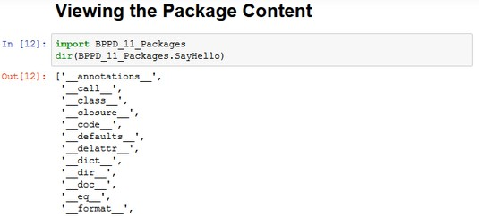 How to View the Package Content with Python - dummies