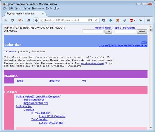 extensive info Python