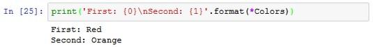 format function Python