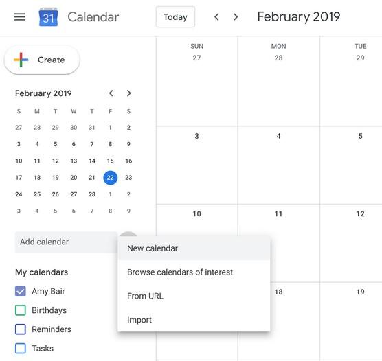 creating Google calendar