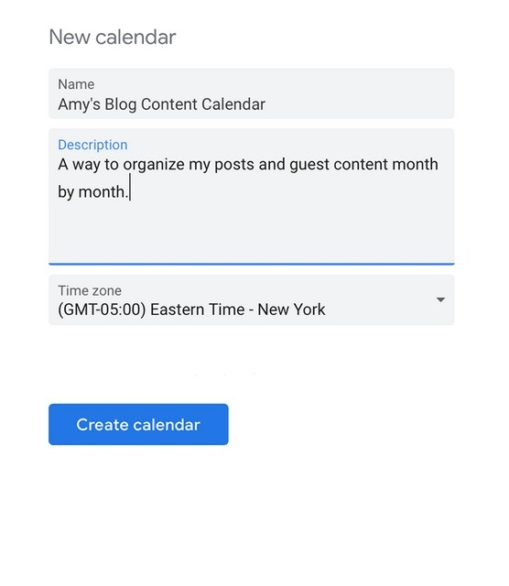 Naming Google Calendar