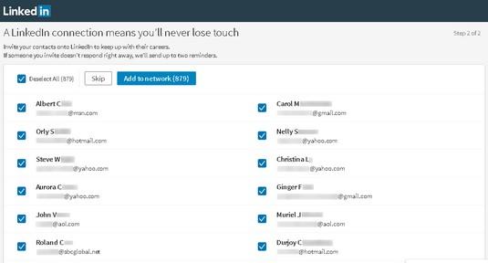 LinkedIm invitations