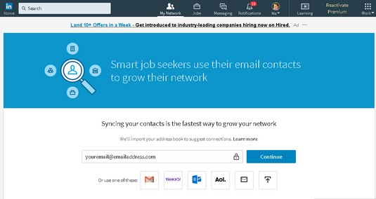 sync email LinkedIn
