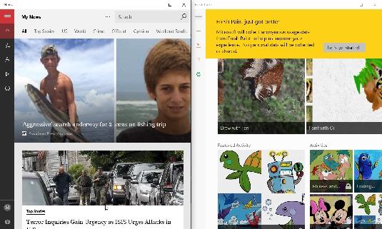 snap apps Windows 10