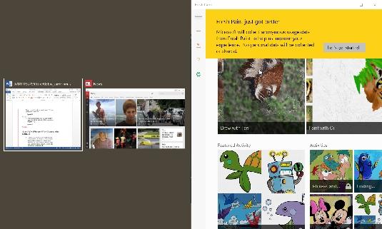 Snap feature Windows 10