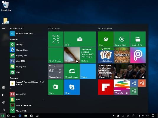 Windows 10 Start button