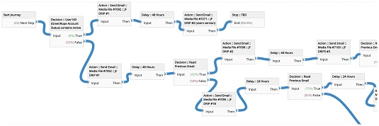 CRM delay-decision-action-campaign model