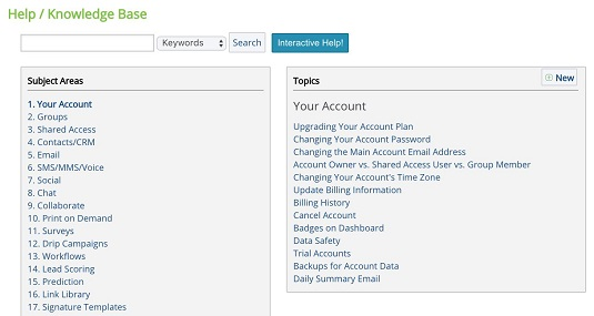 CRM knowledge base