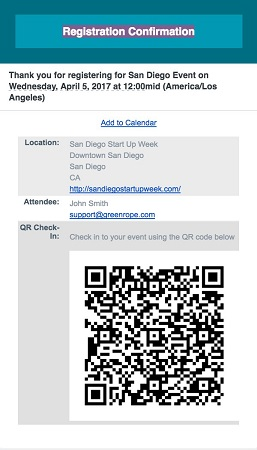 QR code for printed material