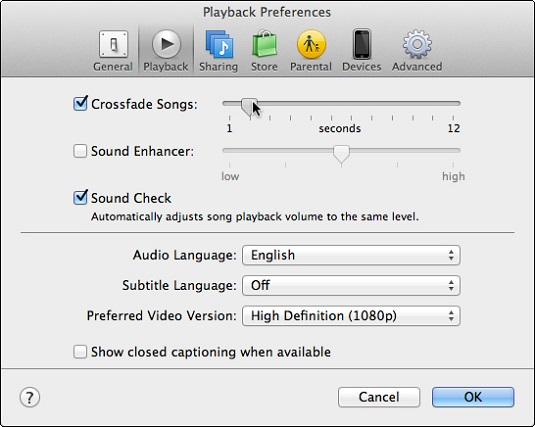 How to Crossfade One Song into Another in iTunes - dummies
