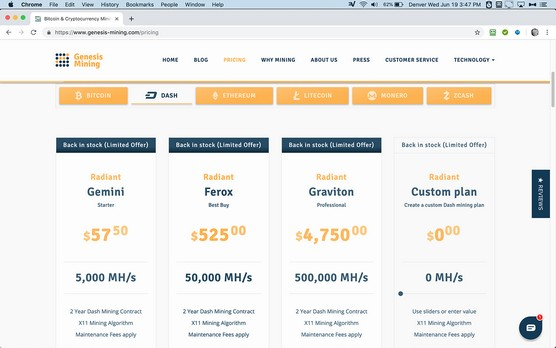 cryptocurrency cloud mining contracts