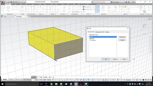 How to Save a UCS in AutoCAD - dummies