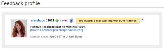 eBay top-rated seller feedback