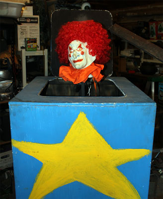 Halloween Jack In The Box Prop.A Typical Animatronic Prop Dummies