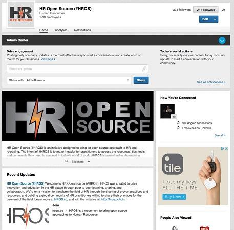 sample linkedin company page
