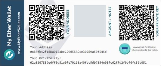 paper Ethereum wallet