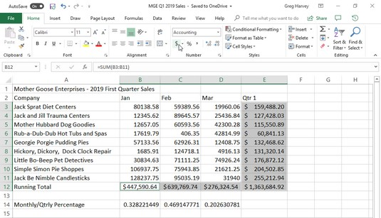Accounting Number Format Excel 2019