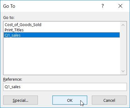 name Excel range