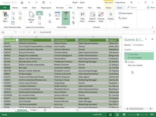 import Access data to Excel