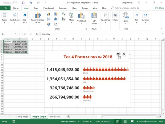 People Graph infographic in Excel