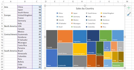 data points represented by rectangles Excel 2019