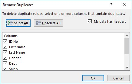 How to Remove Duplicates in Excel 2019: Eliminating Records with Duplicate  Fields - dummies